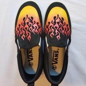 Boys Vans Flame Sneakers